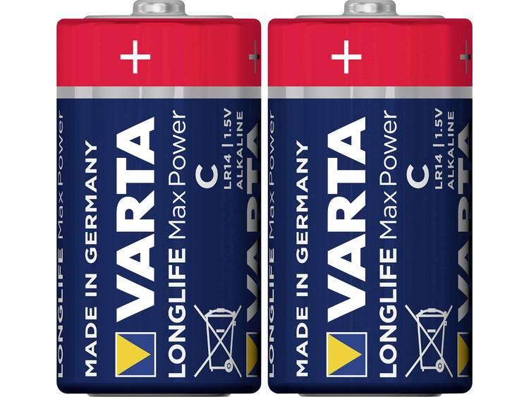 C batterij (baby) Varta Longlife Max Power LR14 Alkaline 1.5 V 7800 mAh 2 stuk(s)