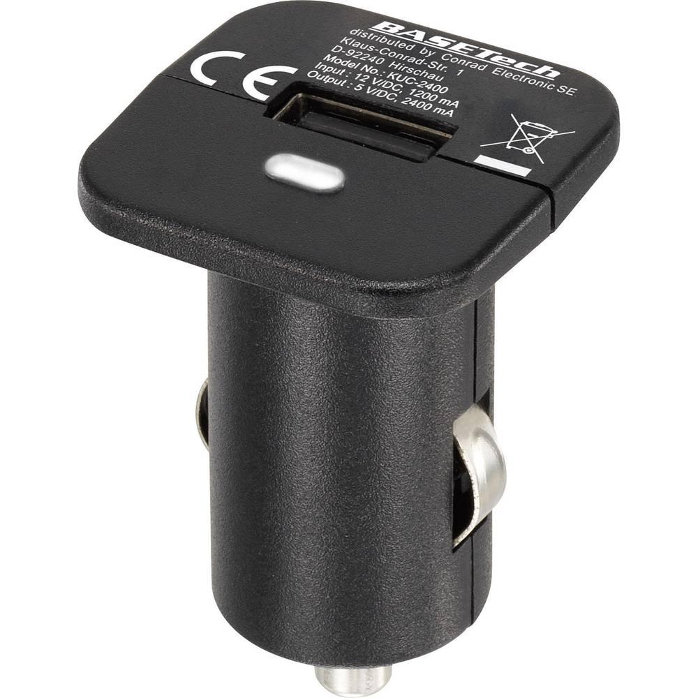 Basetech KUC-2400 USB-oplader Autolader Uitgangsstroom (max.) 2400 mA 1 x USB