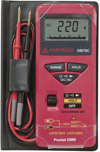 Multimeter Beha Amprobe DM78C CAT II 600 V, CAT III 300 V Fabrieksstandaard (zonder certificaat)