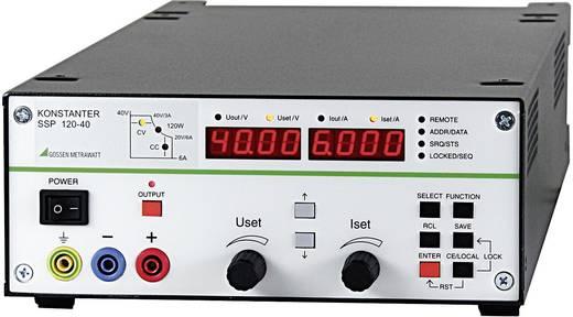 Gossen Metrawatt SSP 120-40 Labvoeding, regelbaar 0 - 40 V/DC 0 - 6 A 120 W RS232 Programmeerbaar Aantal uitgangen 1 x