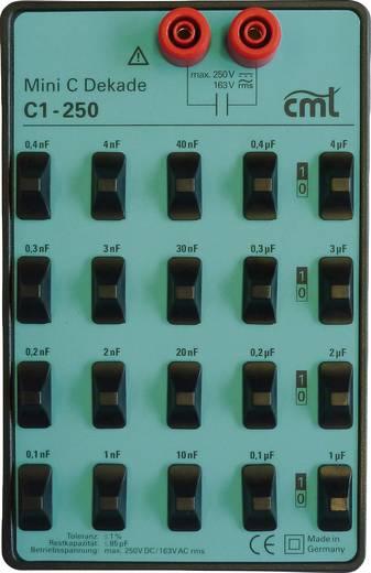 Cosinus C1-250 Meet-decade, Capaciteitdecade100 pF - 11,111 µF250 V