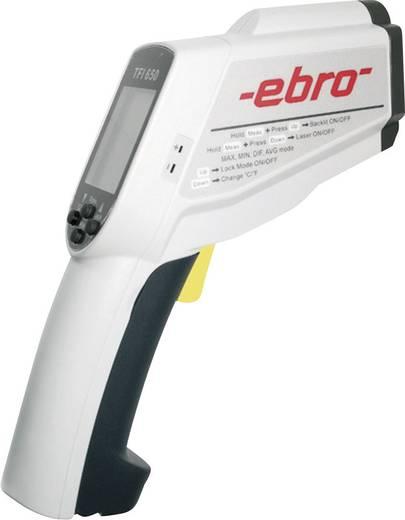 Infrarood-thermometer ebro TFI 650 Optiek (thermometer) 50:1 -60 tot +1500 °C Contactmeting Kalibratie mogelijk: Zonder
