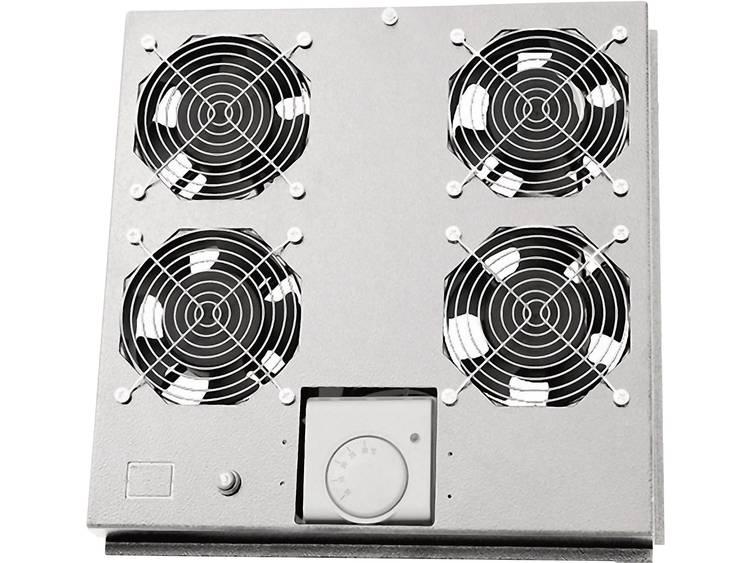 LogiLink FAS122G 19 inch 4 x Patchkast-ventilator Grijs