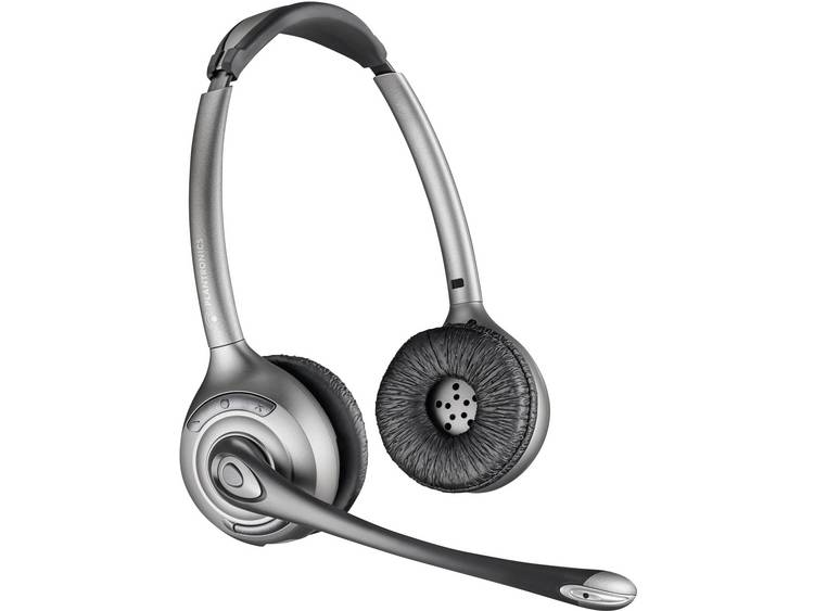 Plantronics Savi WH350 DECT Telefoonheadset Zwart, Zilver