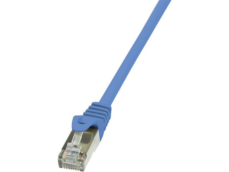 Netwerkkabel RJ45 CAT 6 F/UTP 7.5 m Blauw LogiLink