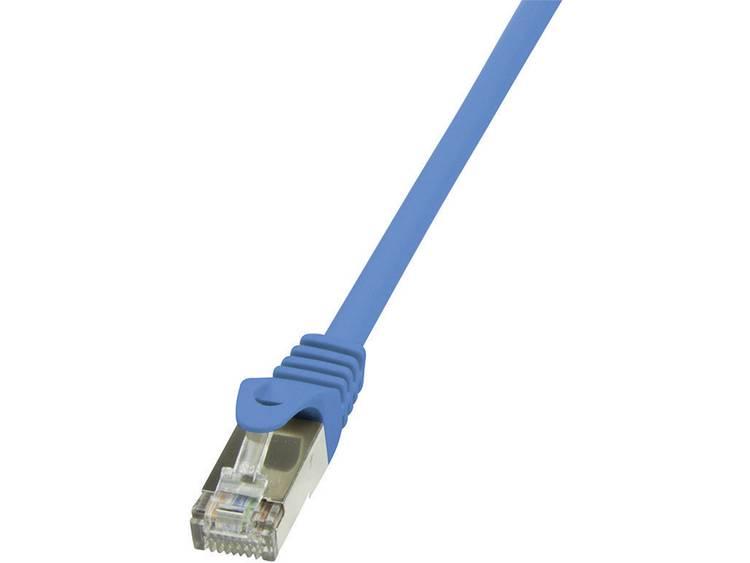 Netwerkkabel RJ45 CAT 5e SF/UTP 0.5 m Blauw LogiLink