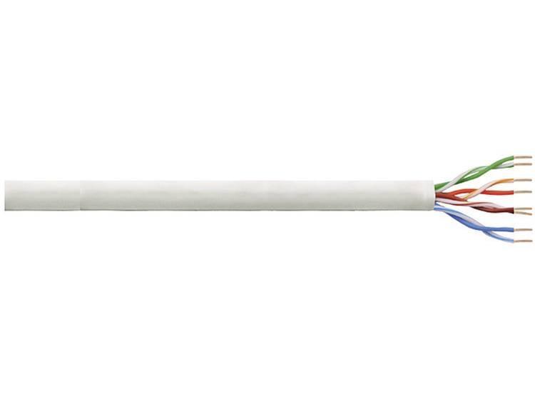 Netwerkkabel CAT 5e U/UTP LogiLink CPV0014 4 x 2 x 0.13 mm² Grijs 100 m