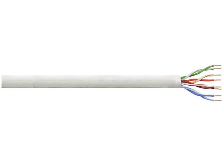 Netwerkkabel CAT 5e U/UTP LogiLink CPV0015 4 x 2 x 0.13 mm² Grijs 305 m