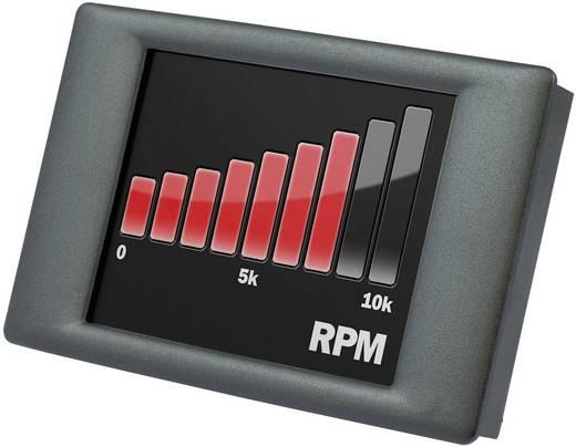 Lascar Electronics Panel Pilot Ingebouwde meter met grafisch touchscreen-display 0-40 V/DC Inbouwmaten 74 x 46 mm