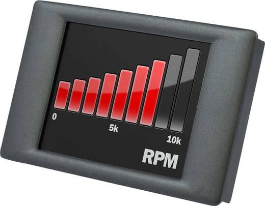 Lascar Electronics Panel Pilot Einbaumessgerät mit grafischem Touchscreen 0-40 V/DC Inbouwmaten 87 x 54.5 mm
