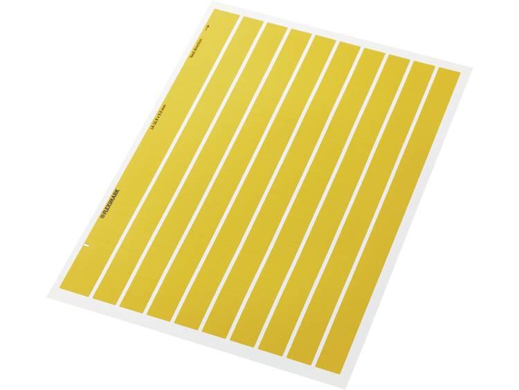 Kabeletiket Fleximark 16.90 x 9 mm Kleur van het label: Geel LappKabel 83256210 LA 16,9-9 YE Aantal etiketten: 3100