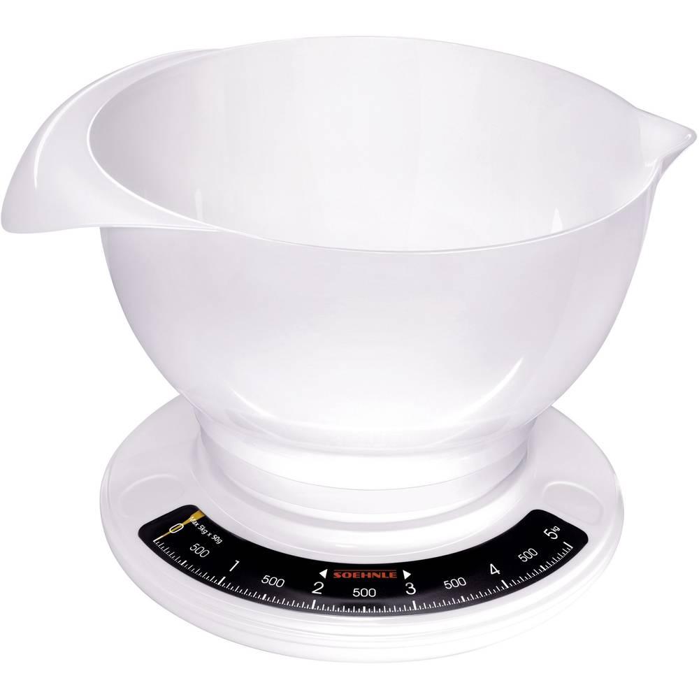 Soehnle Culina Pro Köksvåg analog, med måttskål Vägningsområde=5 kg Vit