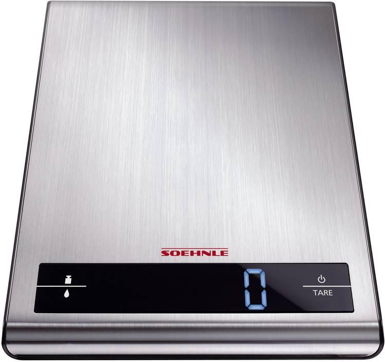 Keukenweegschaal Digitaal Soehnle Attraction Weegbereik (max.)=5 kg Zilver