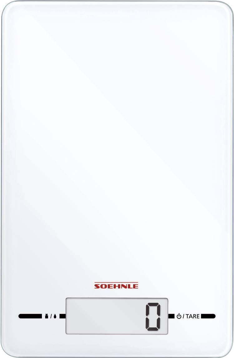 Keukenweegschaal Digitaal Soehnle Page Evolution white Weegbereik (max.)=5 kg Wit