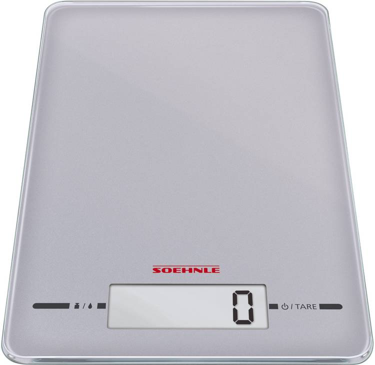Keukenweegschaal Digitaal Soehnle Page Evolution silver Weegbereik (max.)=5 kg Zilver