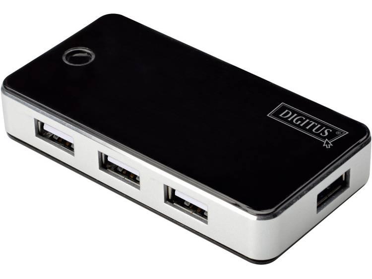 Digitus DA-70222 USB 2.0 hub 7 poorten Zwart-zilver