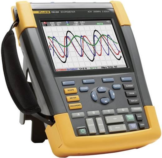 Handoscilloscoop (scoopmeter) Fluke 190-204/EU/S 200 MHz 4-kanaals 2.5 GSa/s 10 kpts 8 Bit Digitaal geheugen (DSO), Com
