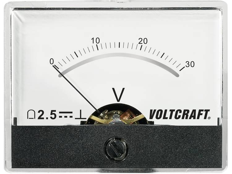 Analoog inbouwmeetapparaat VOLTCRAFT AM-60X46/30V/DC 30 V
