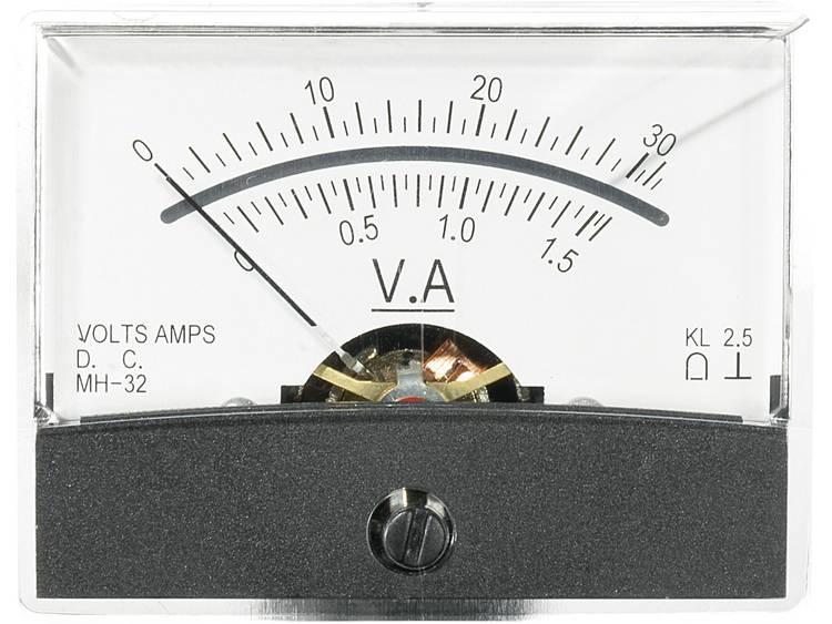 Analoog inbouwmeetapparaat VOLTCRAFT AM-60X46/30V/1,5A/DC 30 V/1,5 A