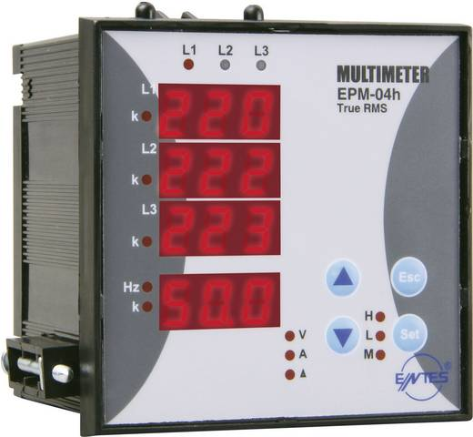 EPM-04h-96 3-fasen multimeter met bedrijfsurenteller inbouwinstrument