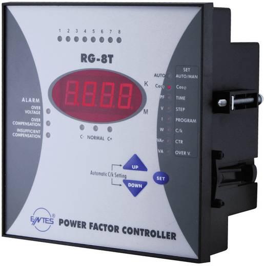 RG-8T 1-fasevermogensfactorregelaar voor 8 condensatortrappen inbouwinstrument