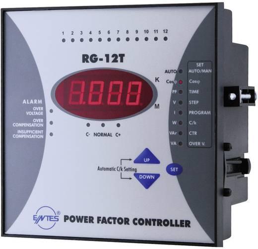 RG-12T 1-fasevermogensfactorregelaar voor 12 condensatortrappen inbouwinstrument