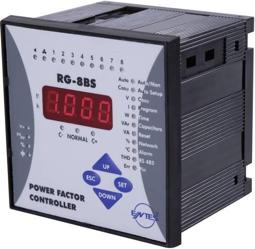 RG-8BS-96 1-fasevermogensfactorregelaar voor 8 condensatortrappen inbouwinstrument