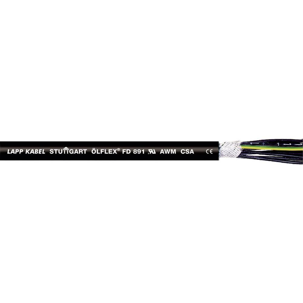 LAPP 1026125-1000 Geleiderkettingkabel ÖLFLEX® FD 891 25 G 0.75 mm² Zwart 1000 m