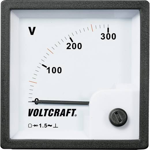 VOLTCRAFT AM-72x72/300 V Analoge inbouwmeter AM-72x72/300 V 300 V Draaispoel