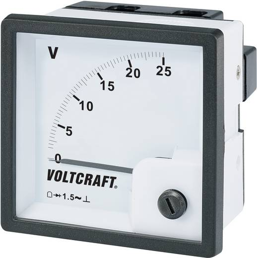 VOLTCRAFT AM-72x72/25V Analoog inbouwmeetinstrument AM-72x72/25 V