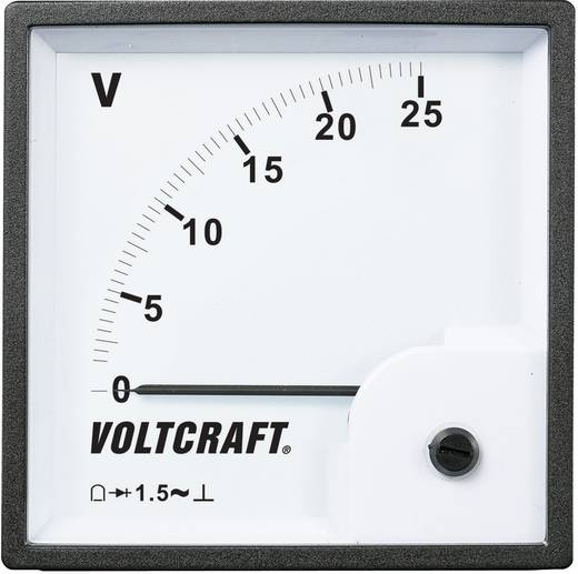 VOLTCRAFT AM-96x96/25V Analoog inbouwmeetinstrument AM-96x96/25 V