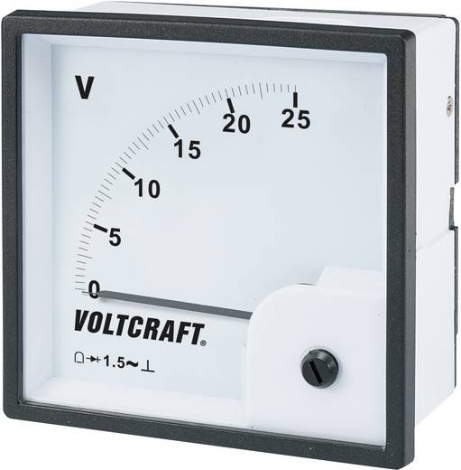 VOLTCRAFT AM-96x96/25 V Analoog inbouwmeetinstrument AM-96x96/25 V 25 V/AC Draaispoel