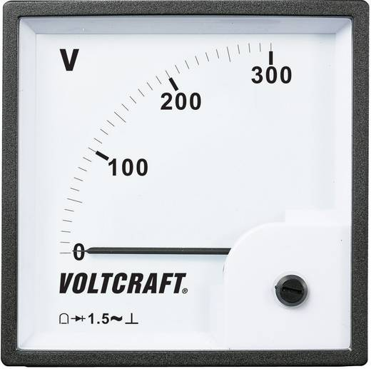 VOLTCRAFT AM-96x96/300V Analoog inbouwmeetinstrument AM-96x96/300 V
