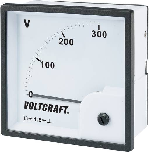 VOLTCRAFT AM-96x96/300V Analoog inbouwmeetinstrument AM-96x96/300 V