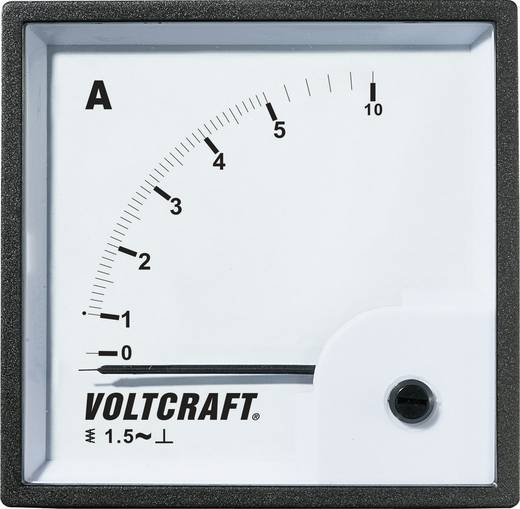 VOLTCRAFT AM-72X72/5A Analoog inbouwmeetinstrument AM-72x72/5 A 5 A Weekijzer