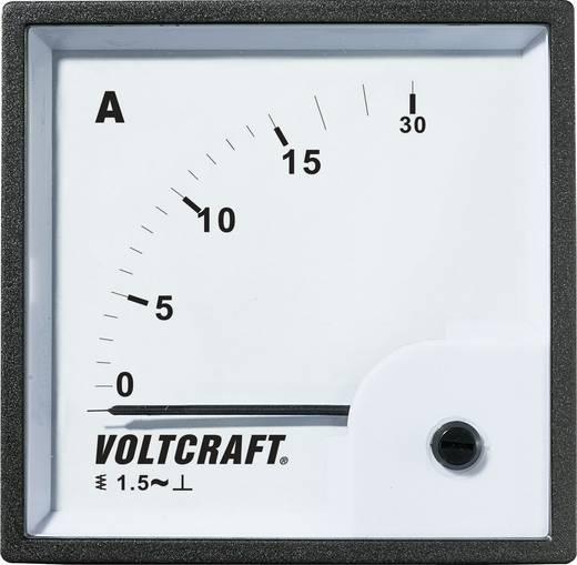 VOLTCRAFT AM-72X72/15A Analoog inbouwmeetinstrument AM-72x72/15 A 15 A Weekijzer