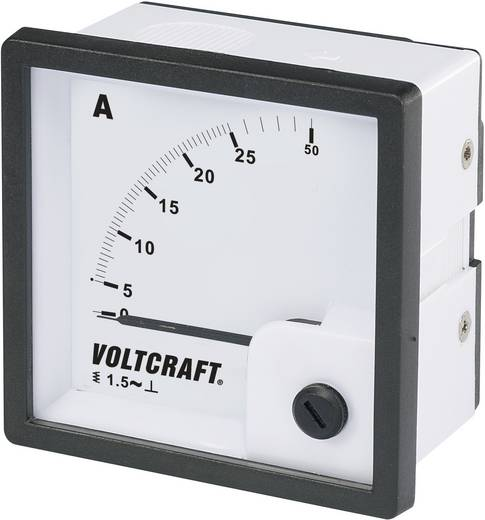 VOLTCRAFT AM-72X72/25A Analoog inbouwmeetinstrument AM-72x72/25 A