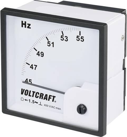 VOLTCRAFT AM-96X96/50HZ Analoge inbouwmeter AM-96X96/50 HZ 45 - 55 Hz Draaispoel