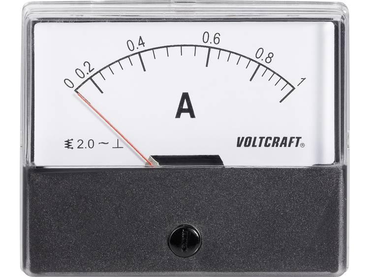 Analoog inbouwmeetapparaat VOLTCRAFT AM-70X60/1A 1 A Weekijzer