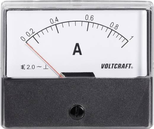 VOLTCRAFT AM-70X60/1 A Inbouwmeter AM-70X60/1 A 1 A Weekijzer