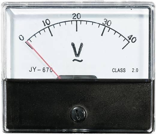 VOLTCRAFT AM-70X60/40 V Inbouwmeter AM-70X60/40 V 40 V Weekijzer
