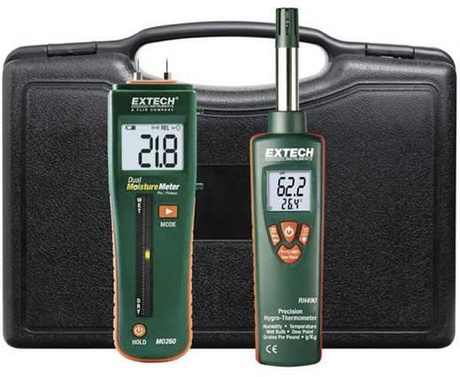 Extech MO260-RK Materiaalvochtigheidsmeter Meetbereik bouwvochtigheid 0 tot 100 %Vol. Meetbereik houtvochtigheid 6 tot 94.8 %Vol. Temperatuurmeting
