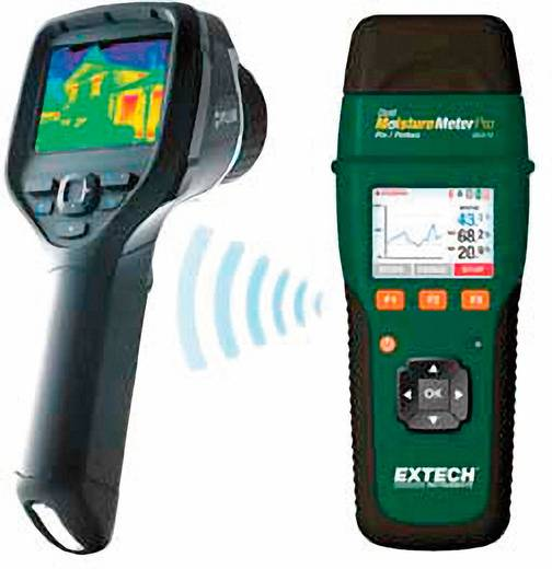 Extech MO270 Materiaalvochtigheidsmeter Meetbereik bouwvochtigheid 0 tot 99.9 %Vol. Meetbereik houtvochtigheid 6 tot 99.