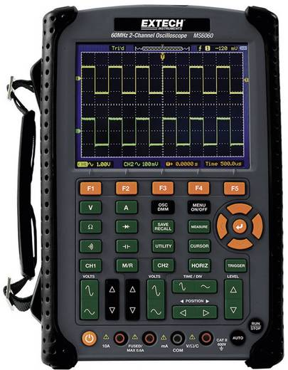 Extech MS6060 Handoscilloscoop (scoopmeter) 60 MHz 2-kanaals 500 MSa/s 512 kpts 8 Bit Digitaal geheugen (DSO), Multimeterfuncties