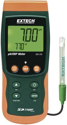 Extech SDL100 pH-/redoxmeter met datalogger SDL100, 3-punts Kalibratie, meetbereiken 0 - 14 pH, 0 - 65 °C, -1999 mV tot + 1999 mV