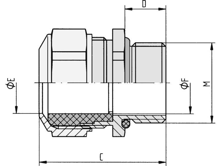 Wartel M63 Nikkel Nikkel LappKabel SKINDICHT® CN-M 63X1,5 1 stuks