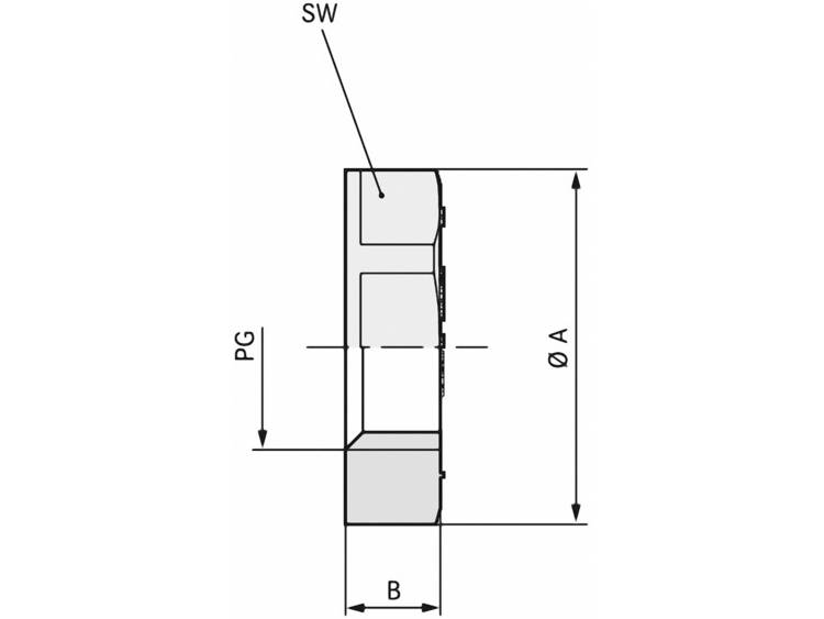 Contramoer PG21 Polystereen (EPS) Lichtgrijs (RAL 7035) LappKabel SKINDICHT GMK PG 21 RAL 7035 LGY 50 stuks