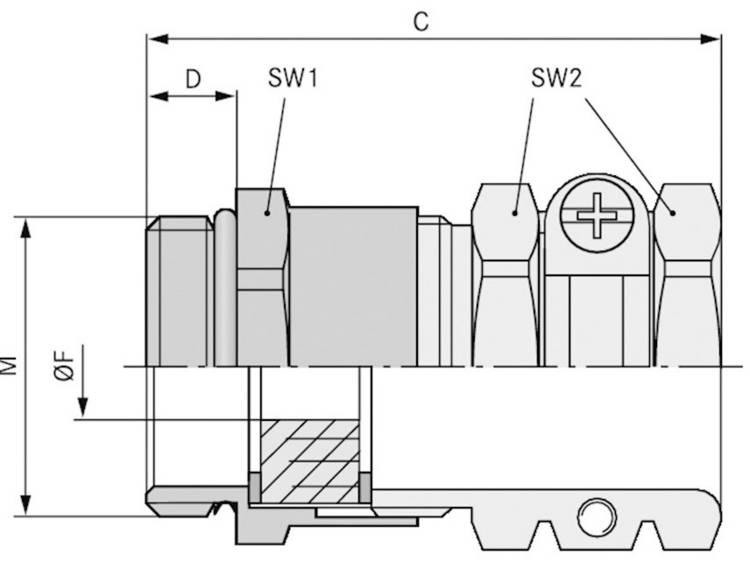 Wartel M40 Messing Messing LappKabel SKINDICHT® SHZ-M-XL 40X1,5/36 10 stuks