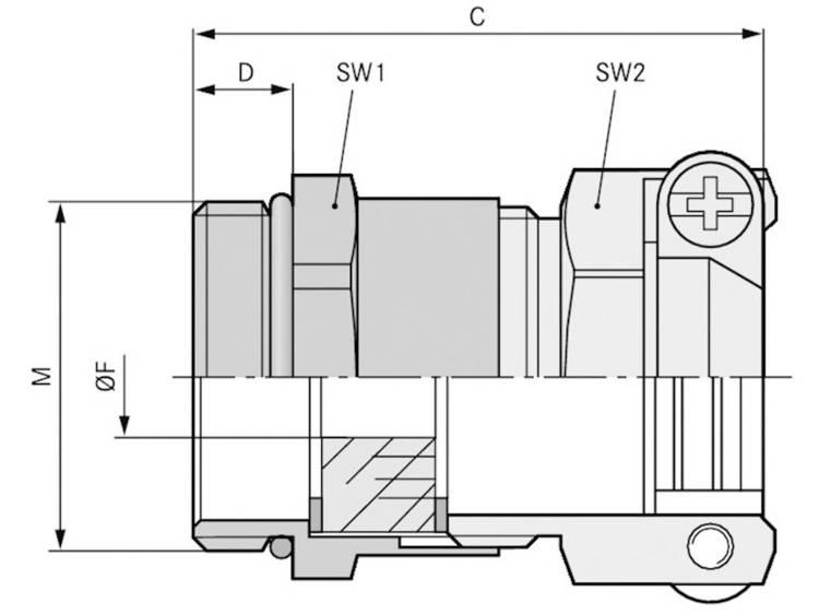 Wartel M32 Messing Messing LappKabel SKINDICHT® SKZ-M 32X1,5/29 10 stuks