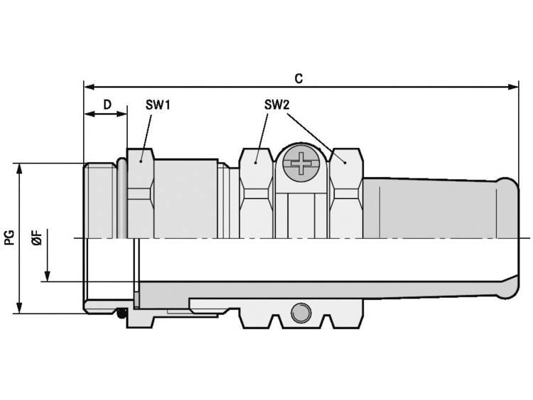 Wartel PG36 Messing Messing LappKabel SKINDICHT® SR PG 36/30 5 stuks